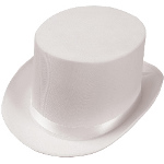 Satin (White) Adult Top Hat 100-195618