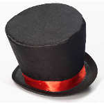 Mad Hatter Adult Top Hat 100-195619