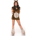 Teddy Bear Girl Adult Costume 100-196195