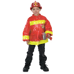 Red Firefighter Child Costume 100-196545