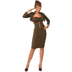 Retro Army Girl Adult Costume 100-196701