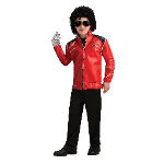 Michael Jackson Deluxe Red Zipper Jacket Child 100-197220