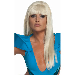 Lady Gaga Straight Adult Wig with Bangs 100-198063
