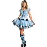 Alice In Wonderland Movie - Sassy Alice Adult Costume 100-198496
