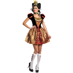 Alice In Wonderland Movie - Sassy Red Queen Adult Costume 100-198499