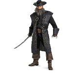Pirates Of The Caribbean - Black Beard Deluxe Adult Costume 100-198524