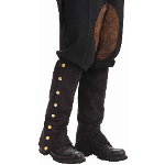 Steampunk Male Spats Black Adult 100-199222