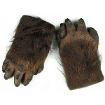 Werewolf Brown Hairy Hands Adult 100-199243
