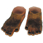 Werewolf Brown Hairy Feet Adult 100-199244