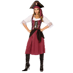 Burgundy Pirate Wench Adult Plus Costume 100-199467
