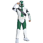 Clone Trooper Commander Green Child Costume 100-211412