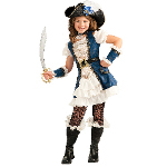 Blue Pirate Girl Child Costume 100-211799