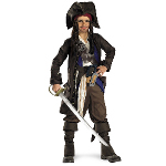 Captain Jack Sparrow Prestige Pre-Teen Costume 100-145385