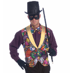 Mardi Gras Vest and Bow Tie Accessory Kit (Adult) 100-214459