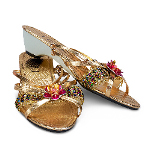 Gold Jewel Child Slippers 100-214203