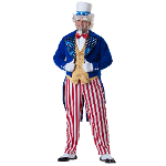 Uncle Sam Elite Collection Adult Plus Costume 100-216068