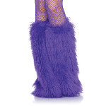Furry Purple Leg Warmers 100-213639