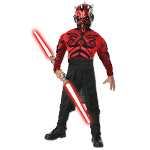 Stars Wars Deluxe Muscle Chest Darth Maul Child Costume 100-216221