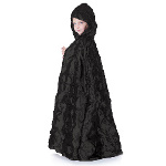 Black Pintuck Cape (Child) 100-215859