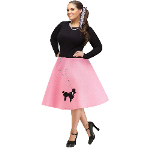 Adult Poodle Skirt Plus Size 100-217331