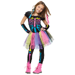 Funky Punk Skeleton Child Costume 100-217034