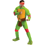 Teenage Mutant Ninja Turtles Deluxe Raphael Adult Costume 100-217529