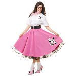 Complete 50's Poodle Outfit Pink Adult Costume 100-218563