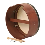 Bodhran 16 Inch x 7 Inch,Tune, Simulated, Single BTD6R