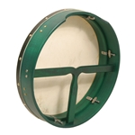 "Bodhran 16""x3.5"", Tune,  Green, T-Bar  BTN6GT"