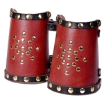 Starburst Leather Wrist Bracers BTS-2179