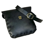 Large Historical Period Leather Pouch - SCA - LARP