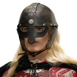 Leather Viking Helmet BTS-4010