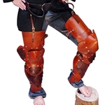 Full Leather Scale Leg Armour