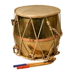 Gharwali Tribal Dhol, Copper, w/ Beaters DRTC