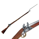 British Brown Bess Musket with Bayonet Colonial Period