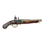 English Flintlock Pistol 18th Century - Non-Firing FD1196L