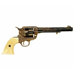 Colt 45 Peacemaker Engraved Model Non Firing Revolver