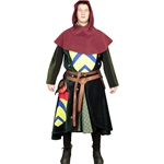 Cotehardie, Surcoat and Hood Set from choice of velvet or velveteen