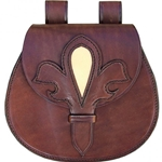Late Medieval Leather Pouch GH0060