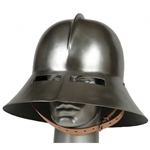 Medieval Kettle Hat with Oculars