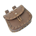 Medieval Belt Pouch - Brown Leather
