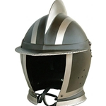 Black and White Burgonet Helmet