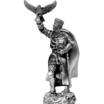 Medieval Falconier Pewter Sculpture MEMA042