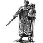 Sir Galahad and Chair Pewter Sculpture