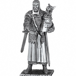 Sir Perceval and Chair Pewter Sculpture