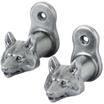 Wolf Head Sword Hanger Pewter OD32G