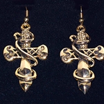 Swordloop Earrings From Europe Gold Plate PCE4