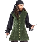 Plus Size Velvet Pirate's Vest