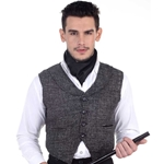 Victorian Waistcoat in Charcoal