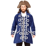 Blue Velvet Pirate Coat